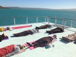 Yoga Nidra on the deck