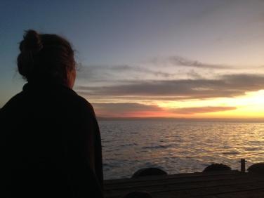 Enjoying the silent sunrise